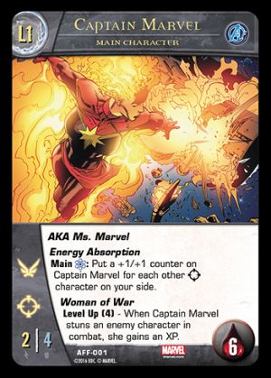 Captain Marvel Main Character Level 1